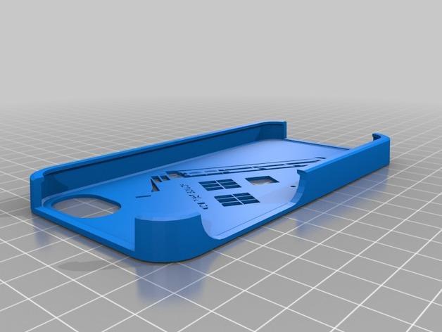 Tardis电话亭 手机套 3D模型  图1