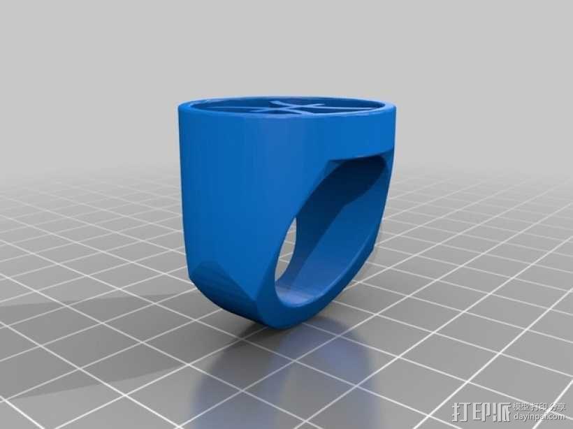 双鱼座指环 3D模型  图1