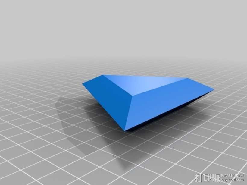 三角形宝石  3D模型  图1