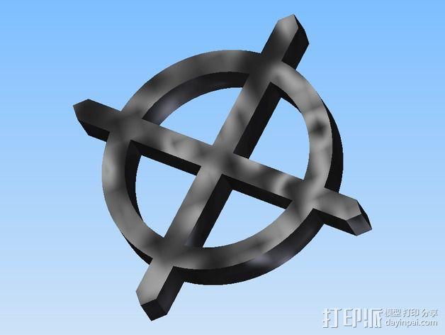 算子符号 3D模型  图1