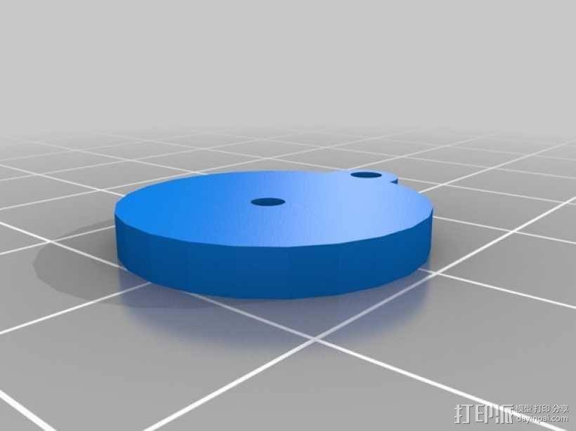和平标识耳环 3D模型  图3