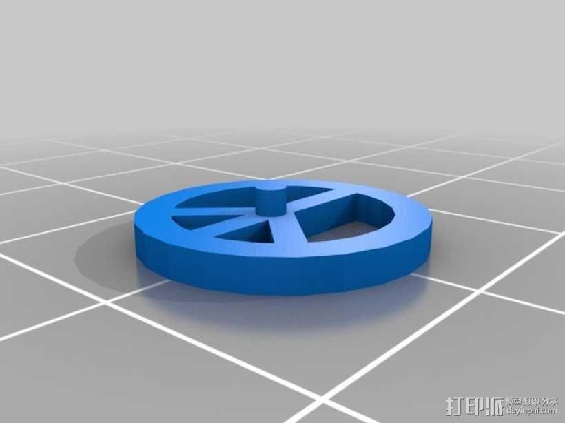 和平标识耳环 3D模型  图2