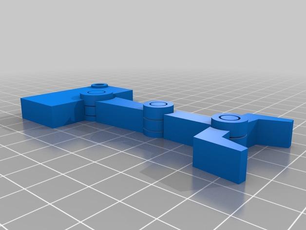 机器人手臂 钥匙坠 3D模型  图2