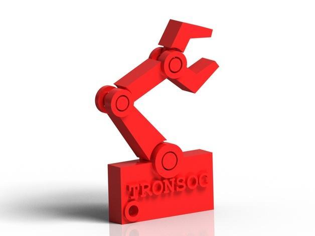 机器人手臂 钥匙坠 3D模型  图1