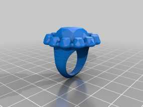 水晶戒指 3D模型