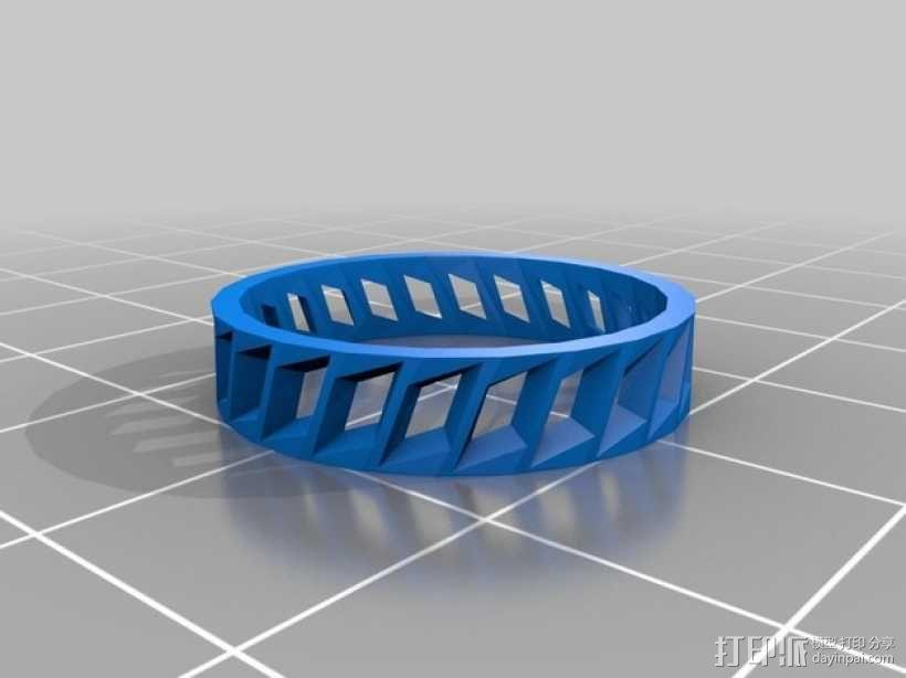 低面数 戒指 3D模型  图1