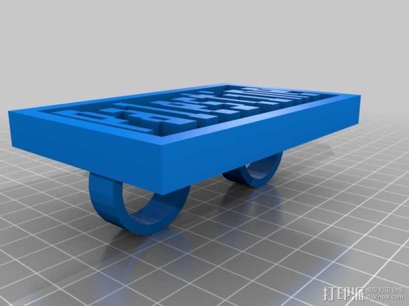 刻字板 指环 3D模型  图1