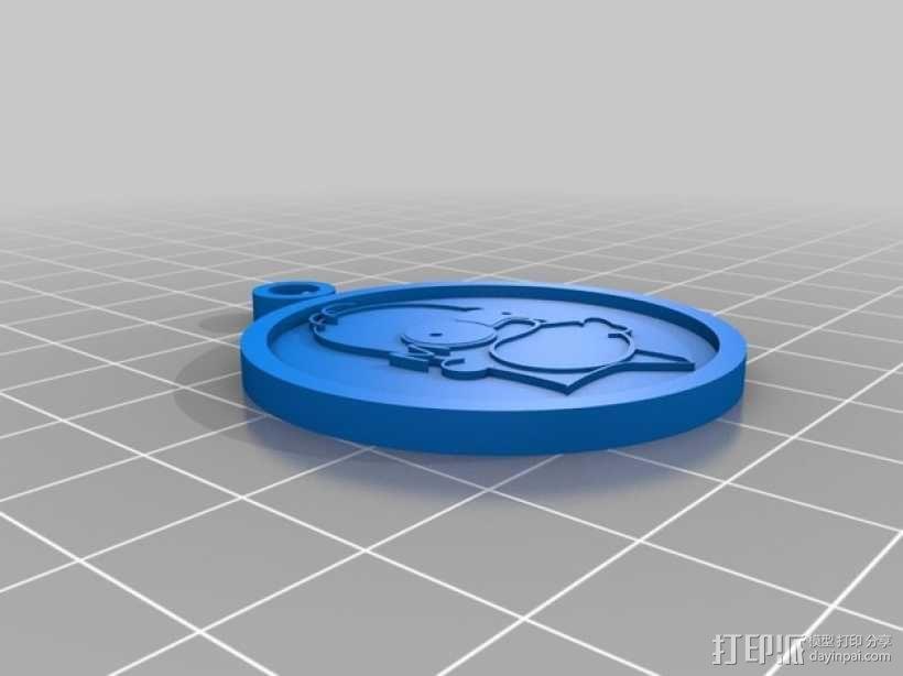 辛普森 吊坠 3D模型  图2