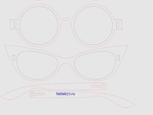胶合板眼镜 3D模型  图2