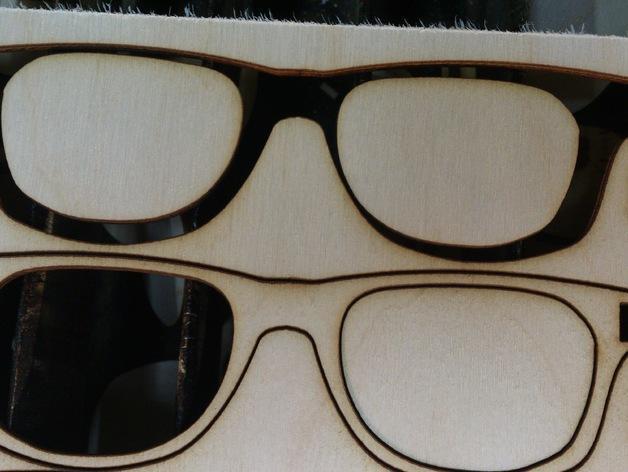 胶合板眼镜 3D模型  图3