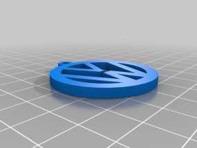 大众汽车 钥匙坠 3D模型