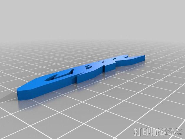 CBR字母吊坠 3D模型  图3