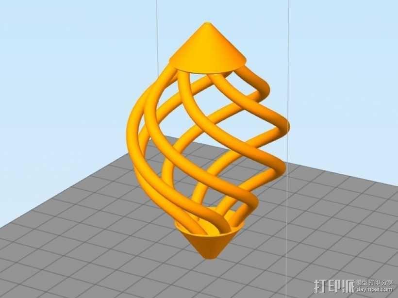 镂空螺旋 吊坠 3D模型  图1