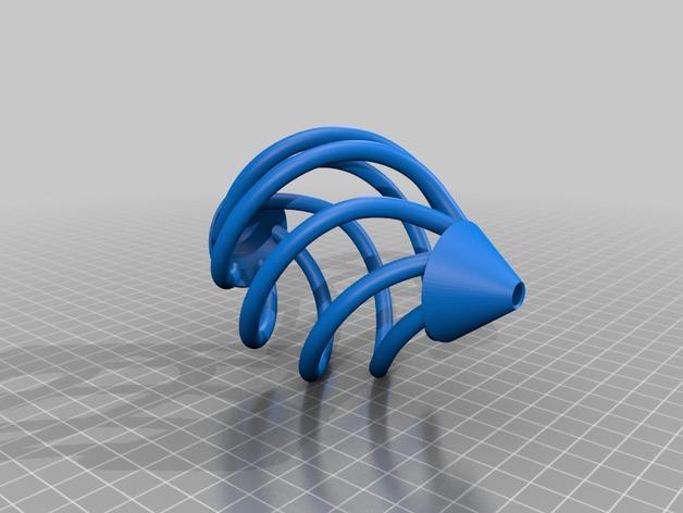 镂空螺旋 吊坠 3D模型  图2