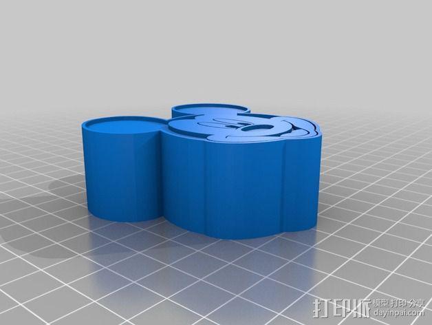米老鼠戒指盒 3D模型  图3