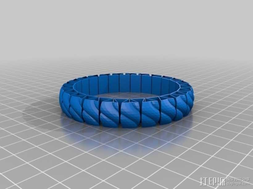 弹性几何手镯 3D模型  图1