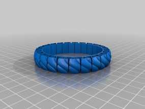 弹性几何手镯 3D模型