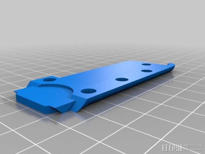 开瓶器钥匙坠 3D模型  图2