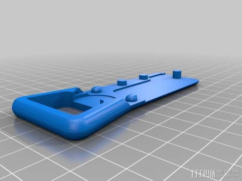 开瓶器钥匙坠 3D模型  图3