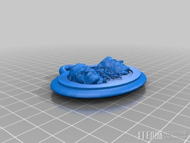 里根徽章 3D模型  图2