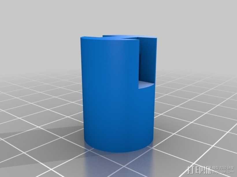 唇膏 钥匙坠 3D模型  图2