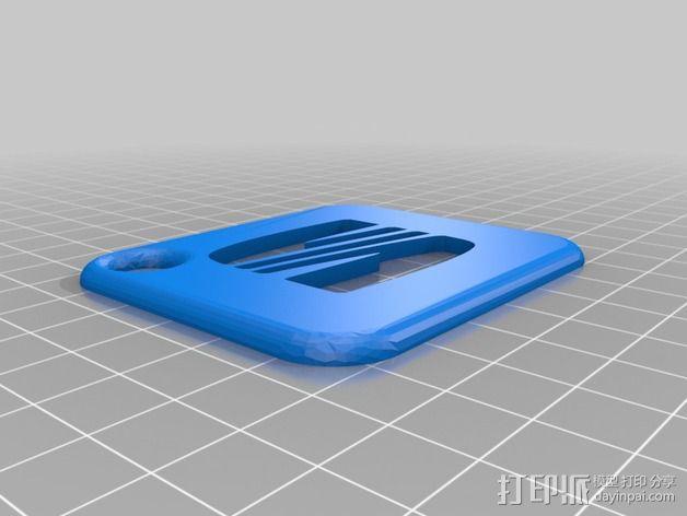 座椅钥匙链 3D模型  图2