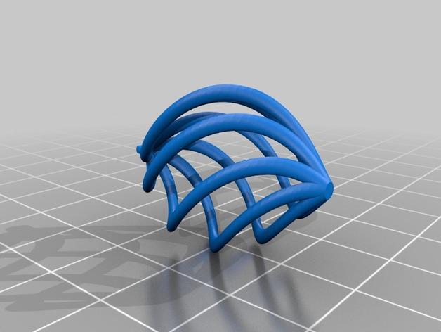 螺旋耳坠 3D模型  图2