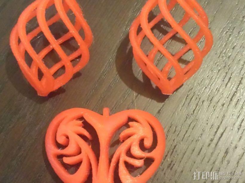 螺旋耳坠 3D模型  图1