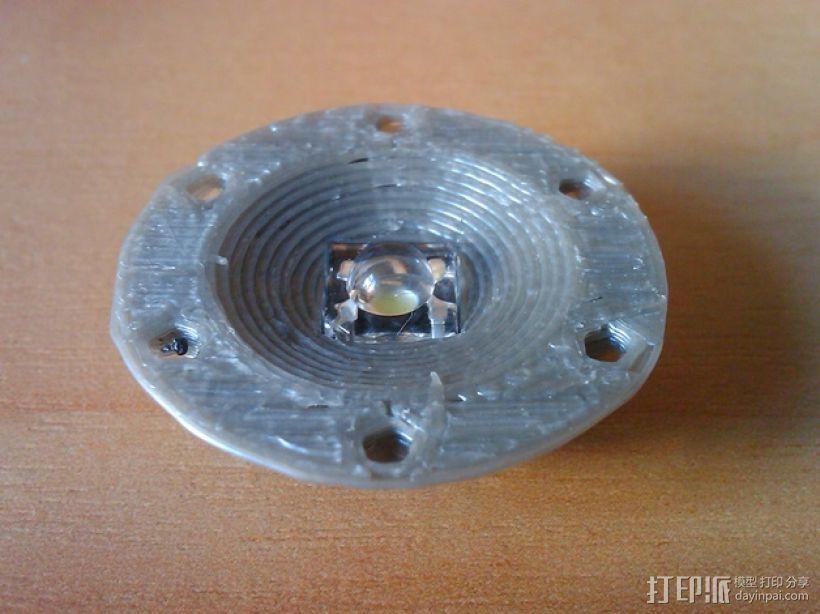 LED小圆灯底座 3D模型  图2