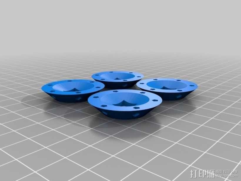 LED小圆灯底座 3D模型  图5