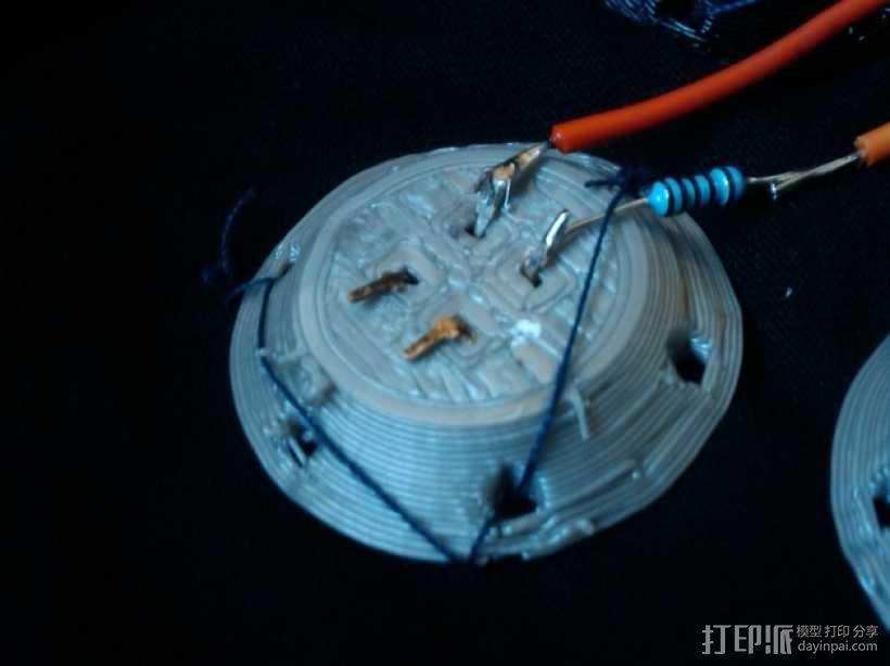 LED小圆灯底座 3D模型  图3