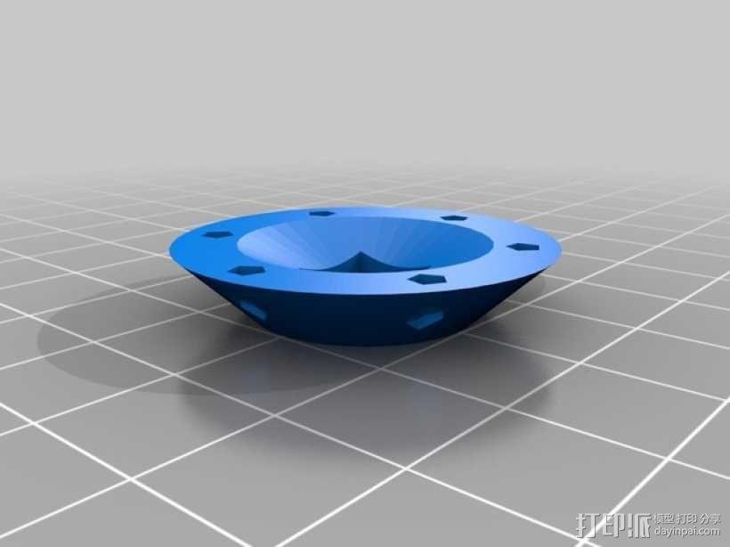 LED小圆灯底座 3D模型  图6