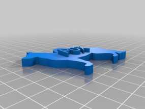 德国牧羊犬 挂饰 3D模型