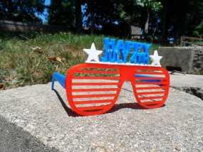 July 4th眼镜 3D模型