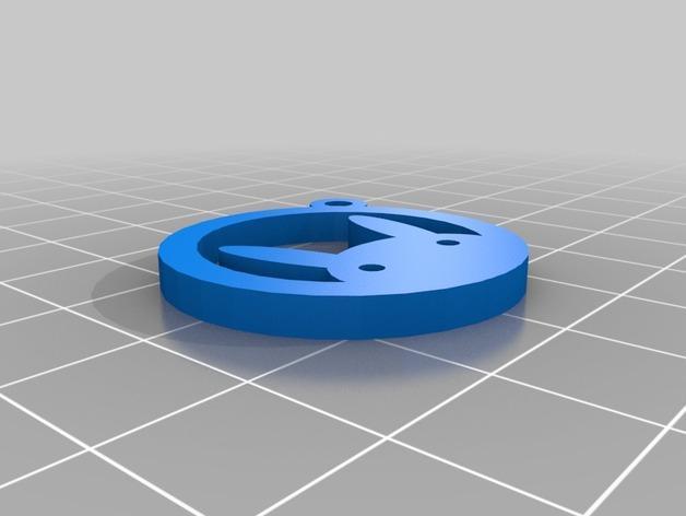 兔子 钥匙坠 3D模型  图2