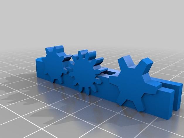 齿轮领带夹 3D模型  图1
