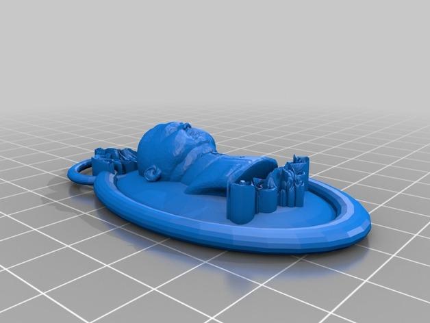 金正恩浮雕挂饰 3D模型  图2