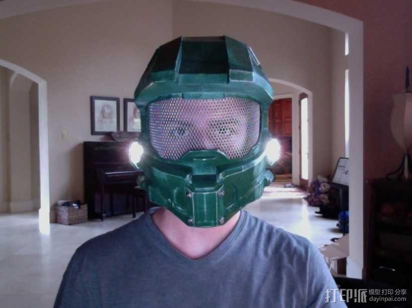 halo 4头盔 3D模型  图1