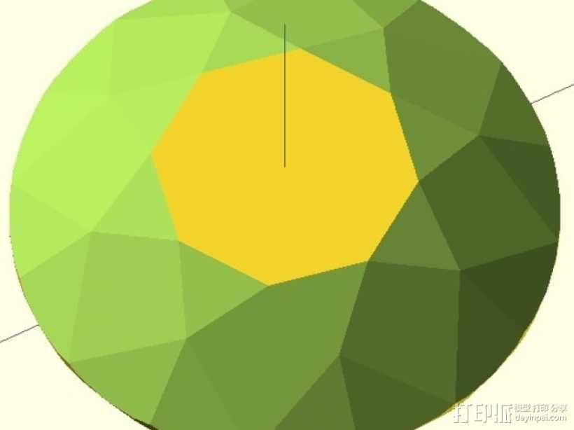 57面钻石 3D模型  图2