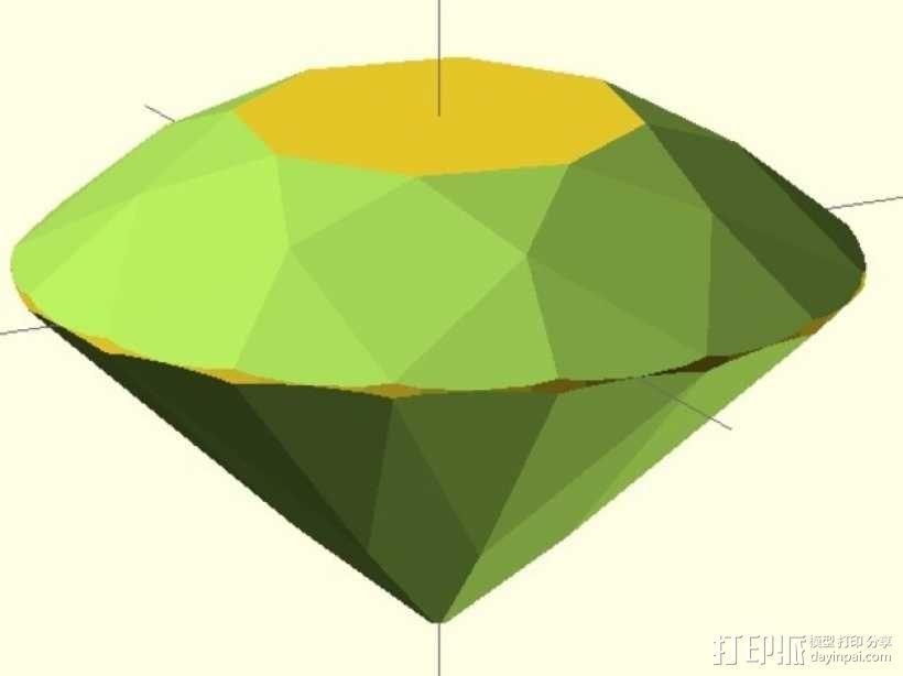 57面钻石 3D模型  图1