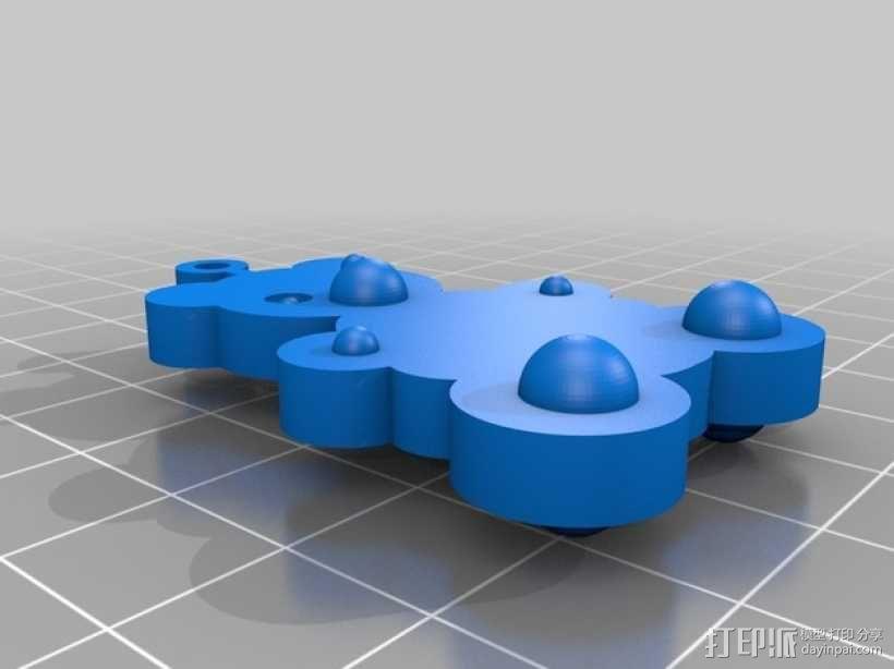 小熊挂件 3D模型  图2