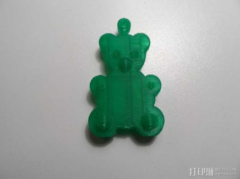 小熊挂件 3D模型  图4