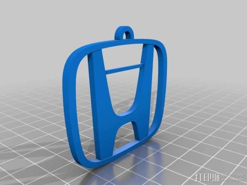 本田汽车钥匙坠 3D模型  图1
