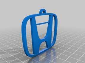 本田汽车钥匙坠 3D模型