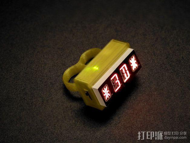 LED指节环 3D模型  图1