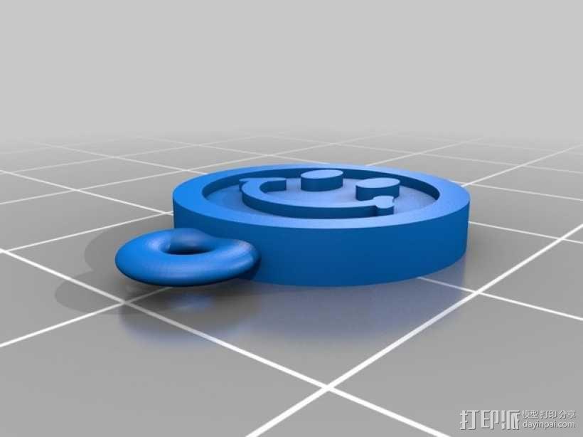 笑脸耳坠 3D模型  图2