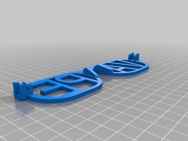 VAPE字母眼镜 3D模型  图2