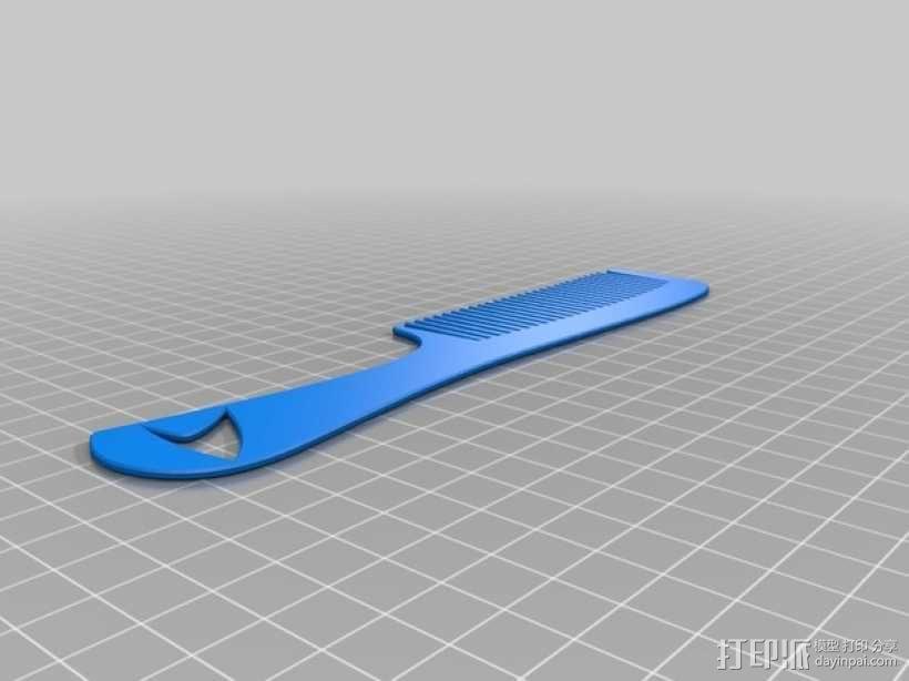 星际迷航 梳子 3D模型  图2