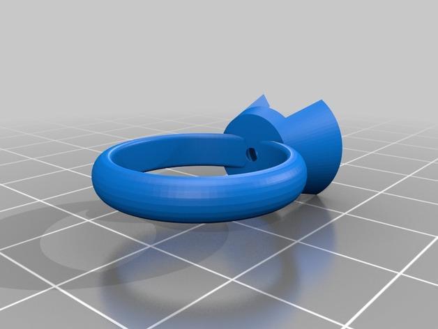 水晶戒指 3D模型  图2