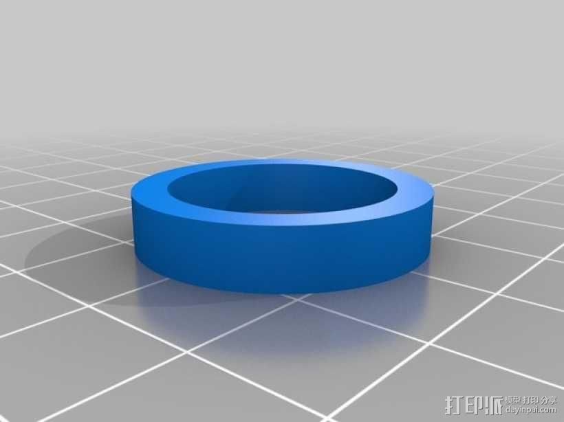 狼 戒指 3D模型  图3